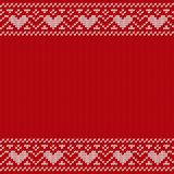 Noël tricotant le modèle sans couture Illustration de vecteur Image libre de droits