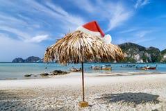Noël tropical de plage image stock