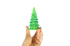 Noël vert d'arbre Images stock