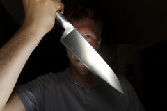 Noża atak fotografia stock