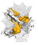 noże tasiemkowi projektów Fotografia Royalty Free