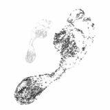 Nożny druk na białym tle ilustracja wektor