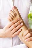 nożny masażu salonu zdrój Zdjęcie Royalty Free