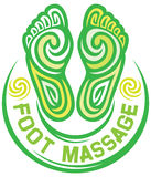 Nożny masażu symbol Obraz Royalty Free