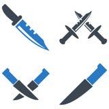 Nożowe Płaskie ikony Zdjęcie Royalty Free