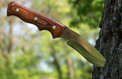 Nożowy łowiecki turysta Fotografia Stock