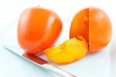 nożowych persimmons dojrzała stal dwa Obraz Stock