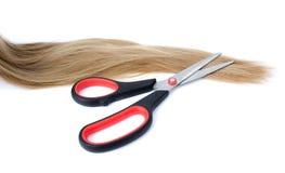 Nożyce cią włosy Zdjęcie Stock