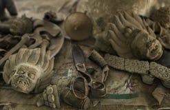 Nożyce i głowy Mahakala Zdjęcia Royalty Free