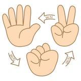 Nożyce papieru skały kreskówka dlaczego bawić się Obraz Stock
