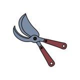 Nożyce uprawia ogródek narzędzie Obraz Royalty Free