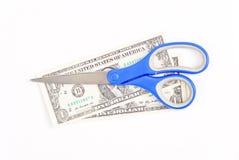 nożycowy rachunku dolar fotografia royalty free