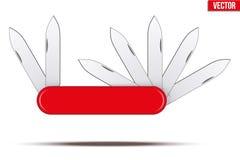 Nożyk z wiele ostrzami royalty ilustracja