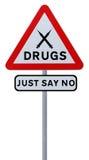 No. às drogas imagem de stock