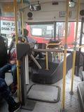 No ônibus Foto de Stock