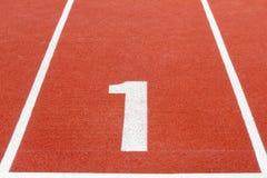 No.1 τρέχοντας διαδρομή Στοκ Εικόνα