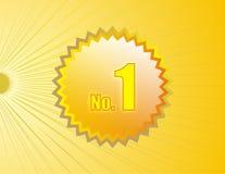 No.1 el medallón n shinny detrás Foto de archivo