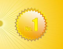 No.1 medallion n shinny back. Nice No.1 medallion and shinny background Royalty Free Illustration