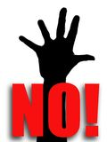 No!. Five fingers on hand - illustration Stock Photography
