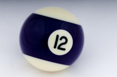 No 12 Pool Ball Royalty Free Stock Image