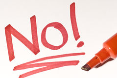 No! fotografia stock libera da diritti