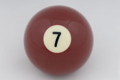 No 7 Pool Ball Royalty Free Stock Photography