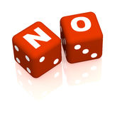 No. Playing cubes with an inscription no vector illustration