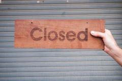 No abierto cerrado Imagenes de archivo