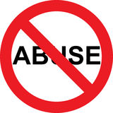 No abuse sign Royalty Free Stock Image