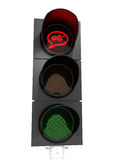 No abuse (traffic light) Royalty Free Stock Image