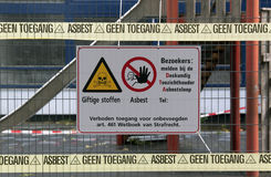 No access associated with pollution by asbestos Stock Photo