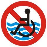 No access beach Stock Image