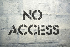 No access Royalty Free Stock Images