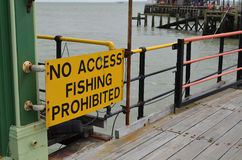 No access fishing prohibited sign Stock Photos