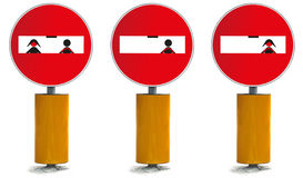 No access people street signal Stock Images
