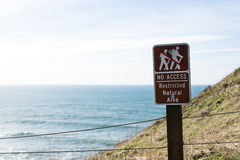 No access, restricted natural area sign Stock Photos