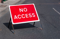 No access road sign for motorists Stock Images