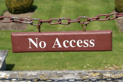 No access sign Royalty Free Stock Photo