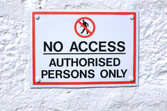 No access sign. Royalty Free Stock Photos