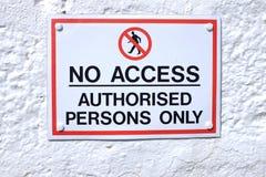 No access sign. Royalty Free Stock Photos