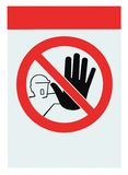 No access for unauthorised warning sign isolated Stock Photos