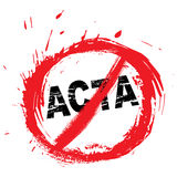 No ACTA symbol Stock Photography