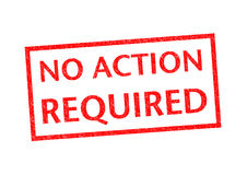 NO ACTION REQUIRED. Rubber Stamp over a white background Royalty Free Stock Images