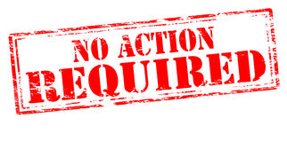 No action required Stock Photos