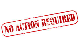 No action required Stock Photo