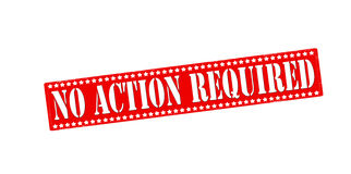 No action required Royalty Free Stock Photography