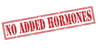 No added hormones red stamp. Isolated on white background Royalty Free Stock Images