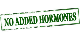 No added hormones. Rubber stamp with text no added hormones inside,  illustration Royalty Free Stock Images