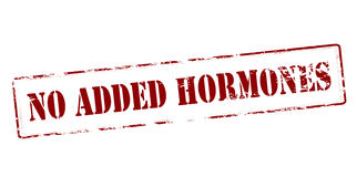 No added hormones Royalty Free Stock Photography