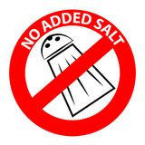 No added salt symbol. Isolated on white background. Vector illustration Stock Image